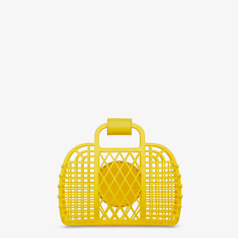 FENDI FENDI BASKET SMALL - Yellow recycled plastic mini-bag - view 4 detail