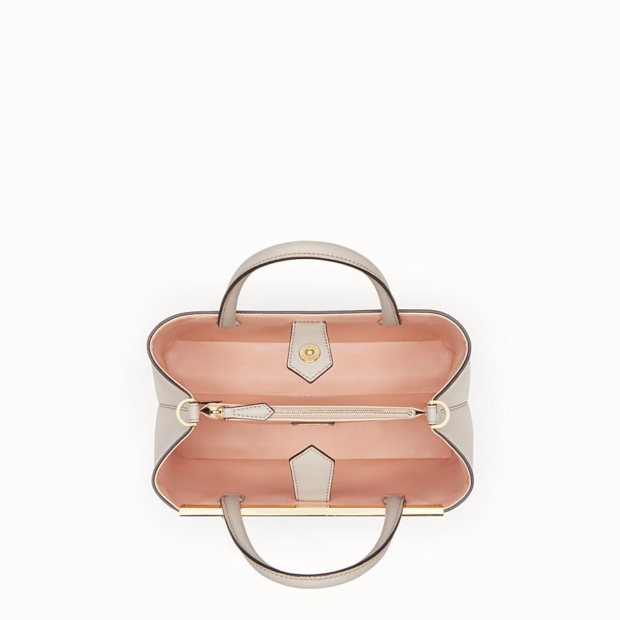 FENDI PETITE 2JOURS - Powder grey leather shopping bag - view 4 detail