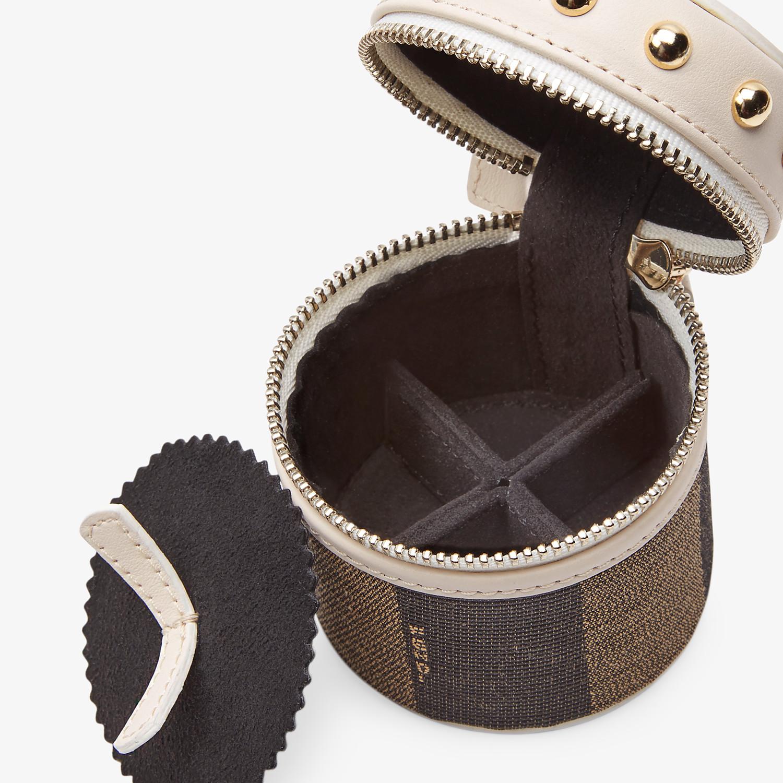 FENDI MINI SLIPCASE - Brown jacquard box - view 3 detail