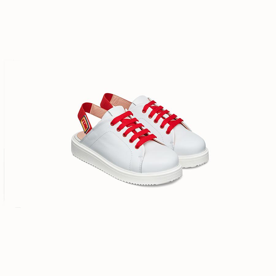FENDI SNEAKER - Schuhe aus weißem Kalbsleder - view 2 detail
