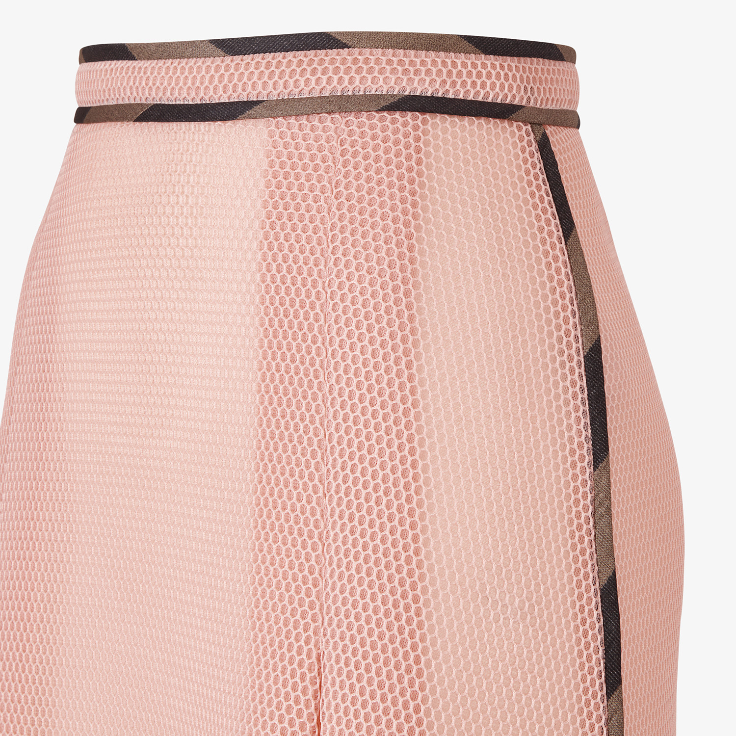 FENDI SKIRT - Skirt in pink tech mesh - view 3 detail