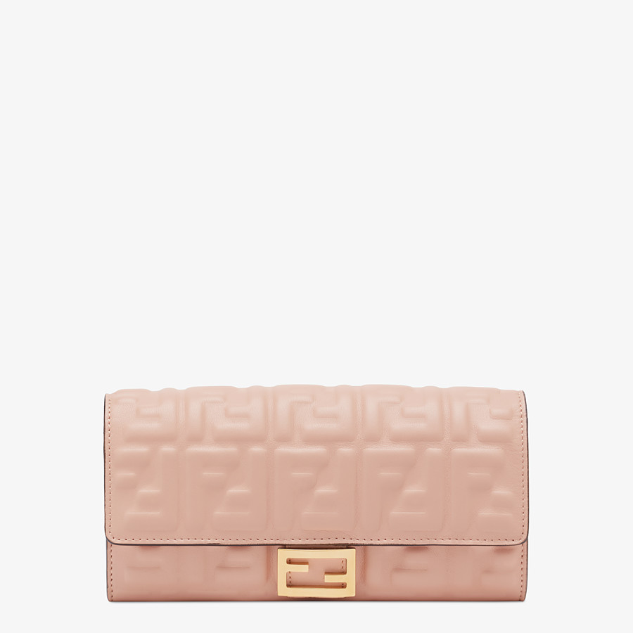 FENDI CONTINENTAL - Pink nappa leather wallet - view 1 detail