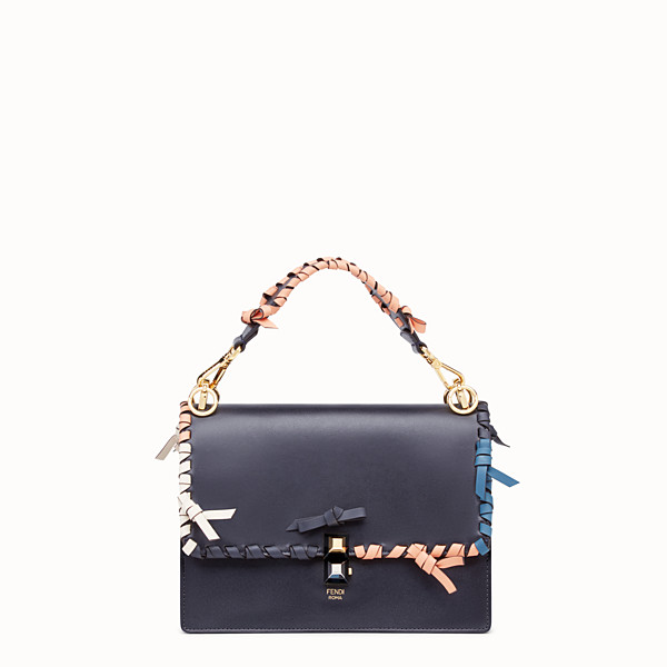 FENDI KAN I - Sac en cuir bleu - view 1 small thumbnail
