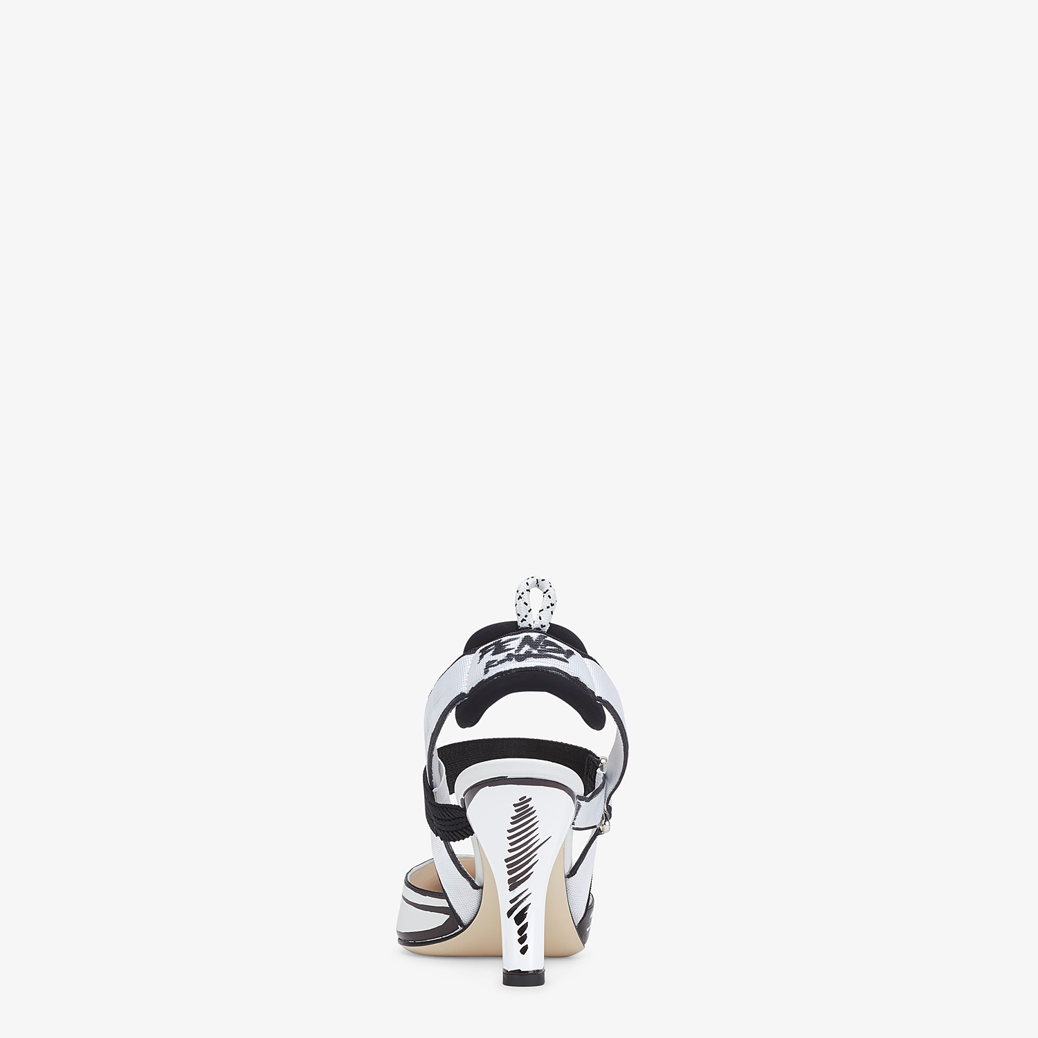 FENDI SLINGBACKS - White leather Colibrì slingbacks - view 3 detail