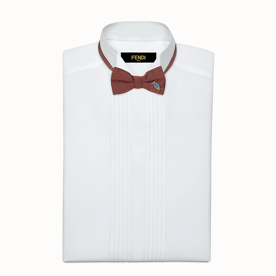FENDI BOW TIE - Burgundy silk bow tie - view 2 detail