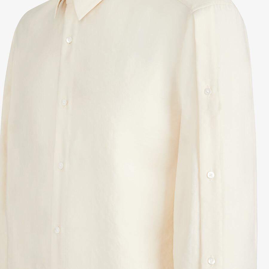 FENDI SHIRT - White tech fabric shirt - view 3 detail