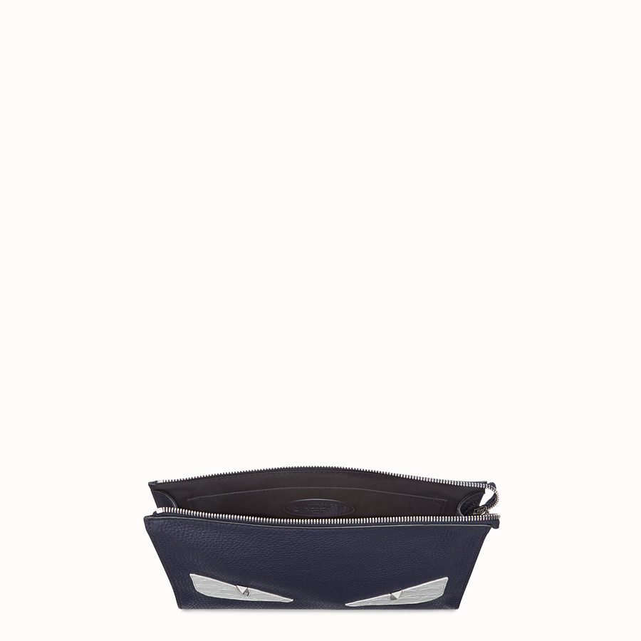 FENDI POCHETTE - Pochette en cuir bleu - view 4 detail