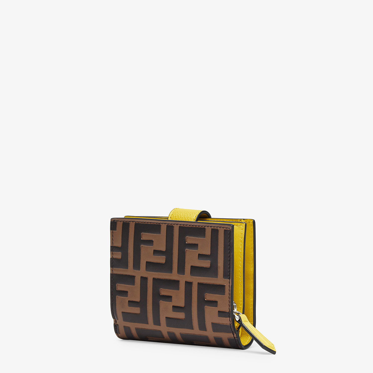 FENDI BIFOLD - Compact, yellow leather wallet - view 2 detail