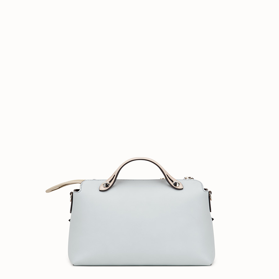 FENDI BY THE WAY REGULAR - Grey leather Boston bag - view 3 detail