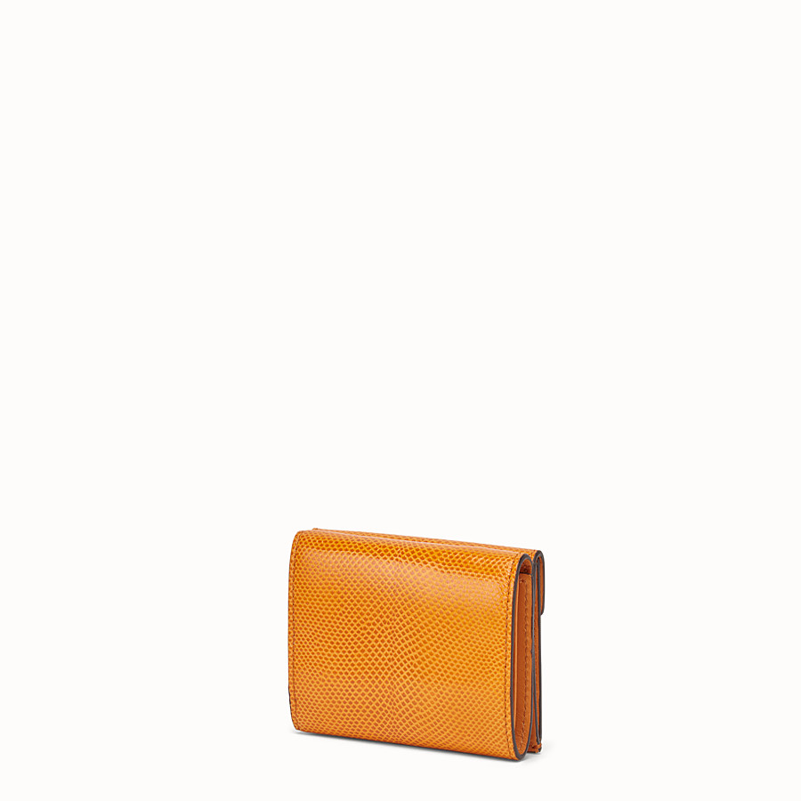 FENDI MICRO TRIFOLD - Orange karung wallet - view 2 detail