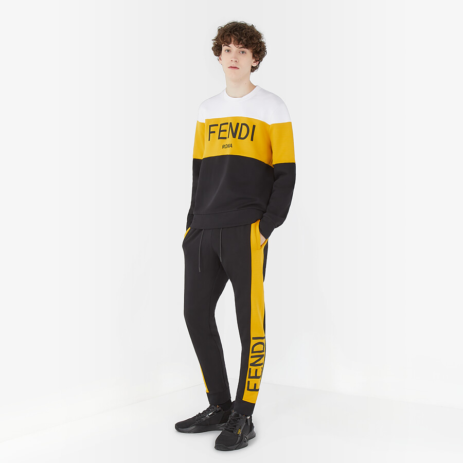 FENDI PANTS - Black cotton pants - view 4 detail