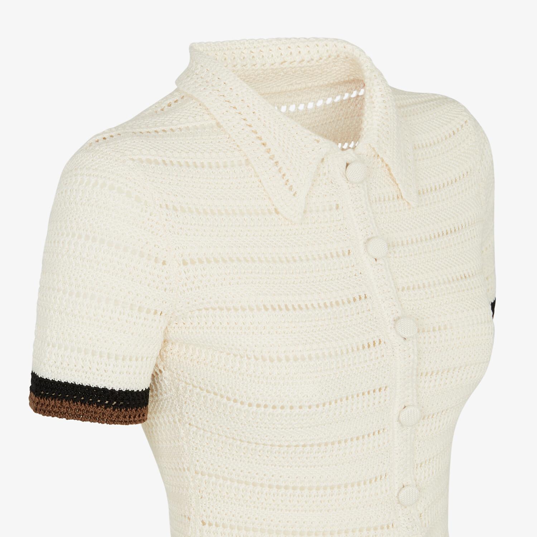FENDI PULLOVER - Poloshirt aus Baumwolle in Weiß - view 3 detail