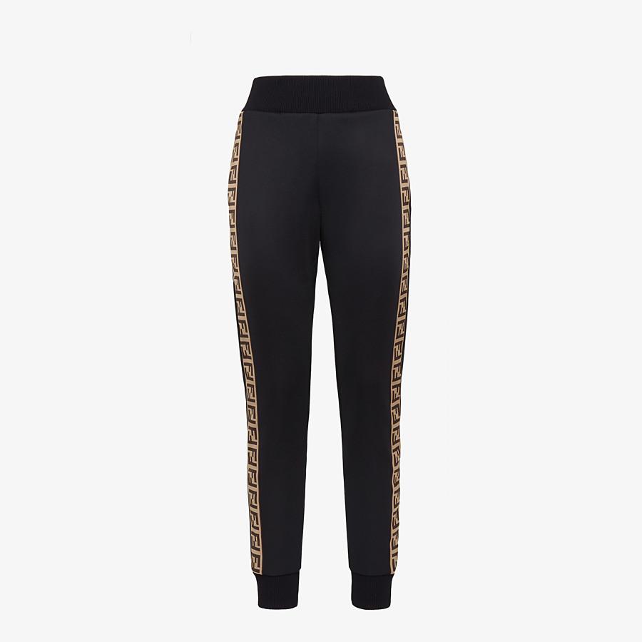 FENDI PANTS - Black jersey jogging pants - view 1 detail