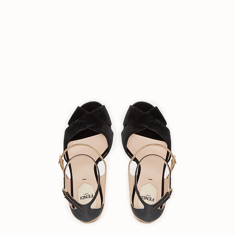 FENDI SANDALES - Sandales en velours noir exotique - view 4 detail