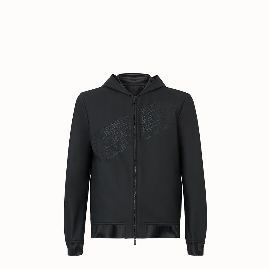 FENDI BLOUSON JACKET - Black leather jacket - view 1 detail