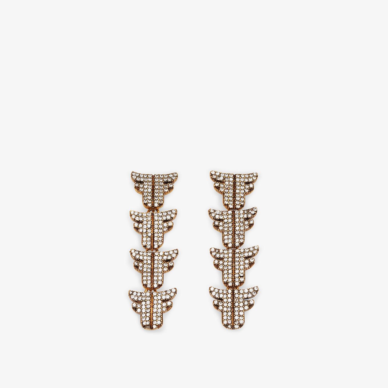 FENDI FFREEDOM EARRINGS - Gold-colour earrings - view 1 detail