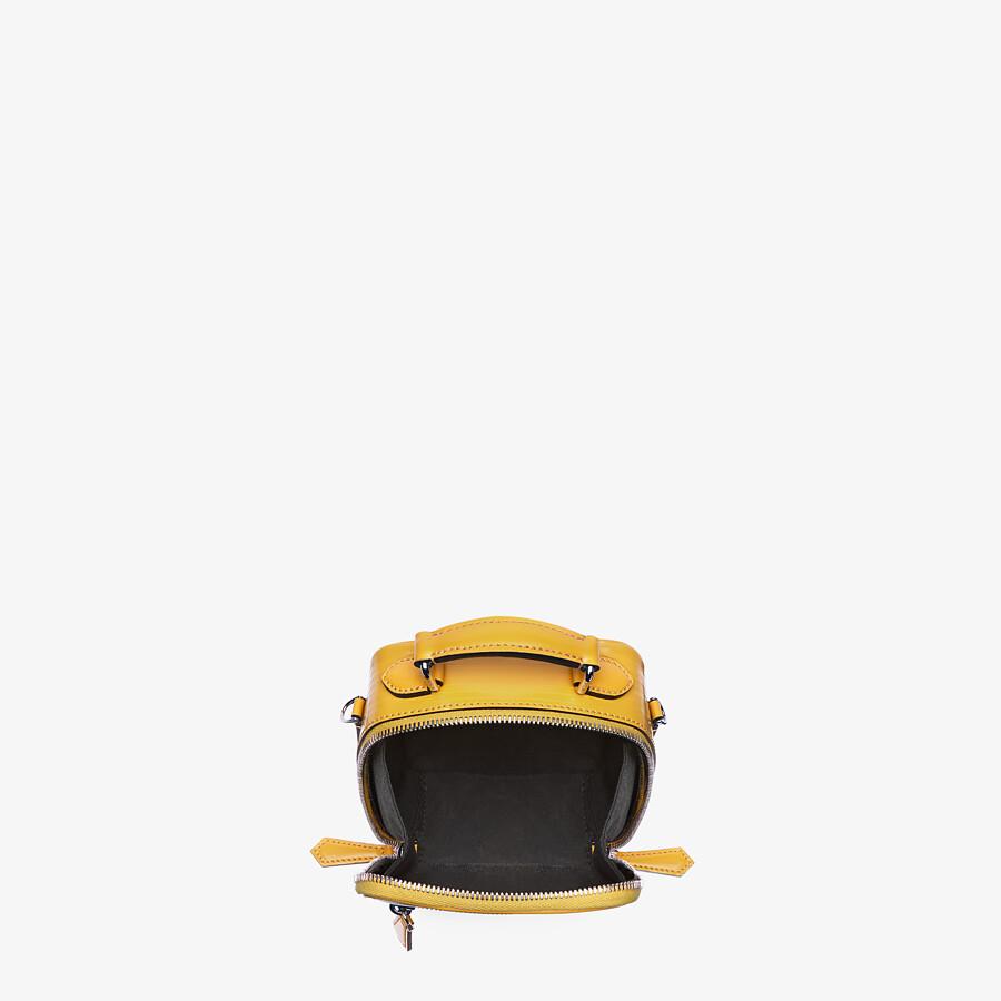 FENDI TRAVEL MINI BAG - Yellow leather bag - view 4 detail