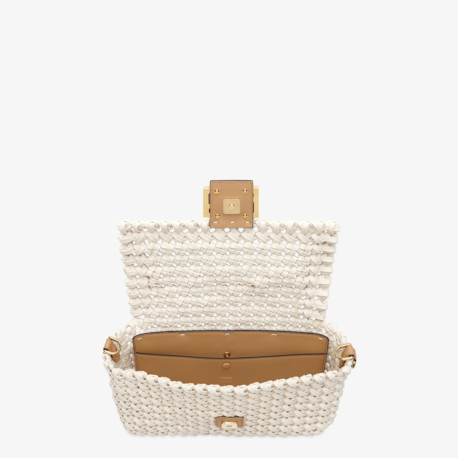 FENDI BAGUETTE - Tasche aus geflochtenem Canvas in Beige - view 5 detail