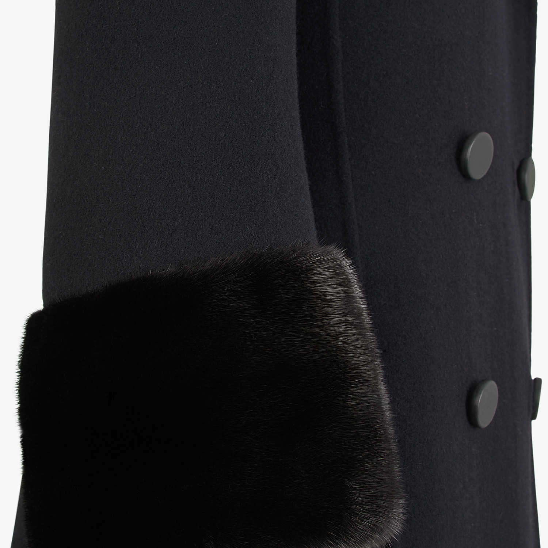 FENDI OVERCOAT - Black wool coat - view 3 detail