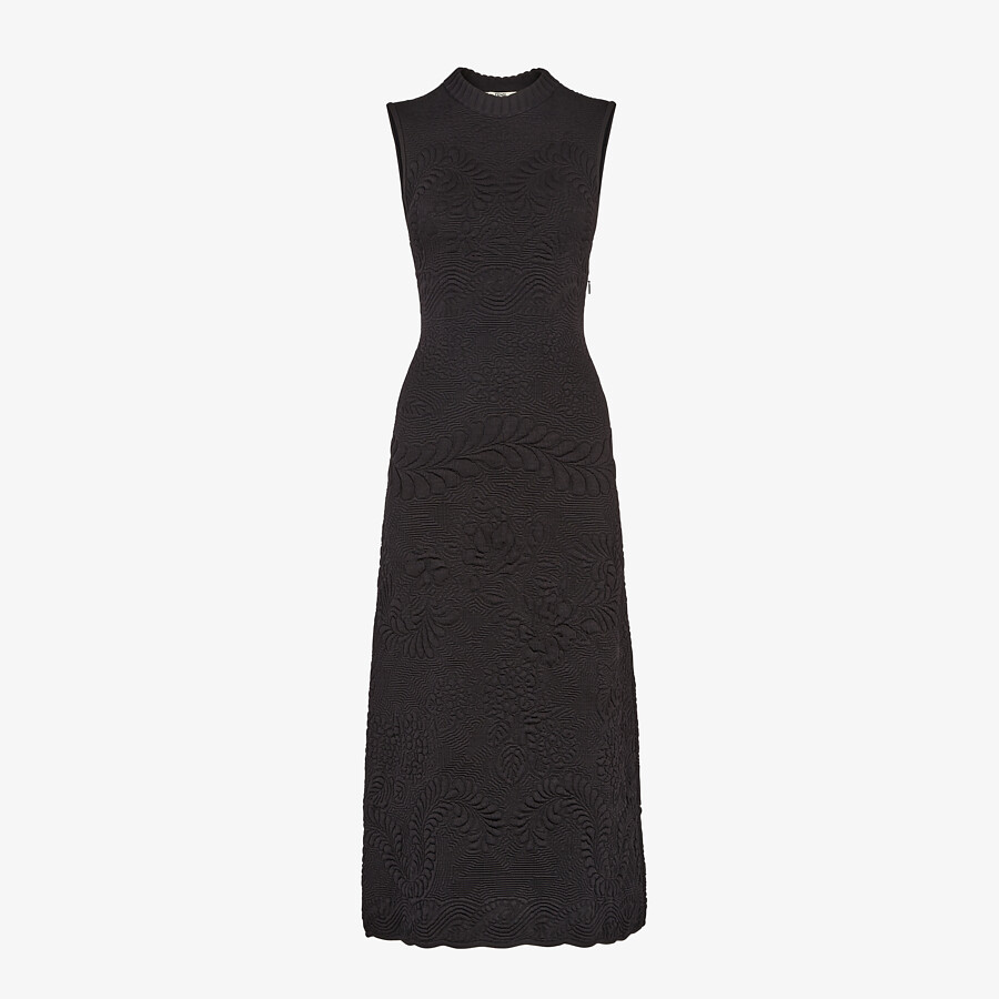 FENDI DRESS - Black viscose dress - view 1 detail
