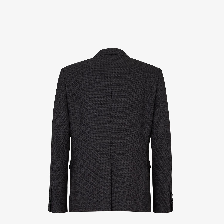FENDI JACKET - Blue wool blazer - view 2 detail