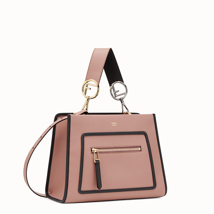 FENDI RUNAWAY SMALL - Pink leather bag - view 2 detail