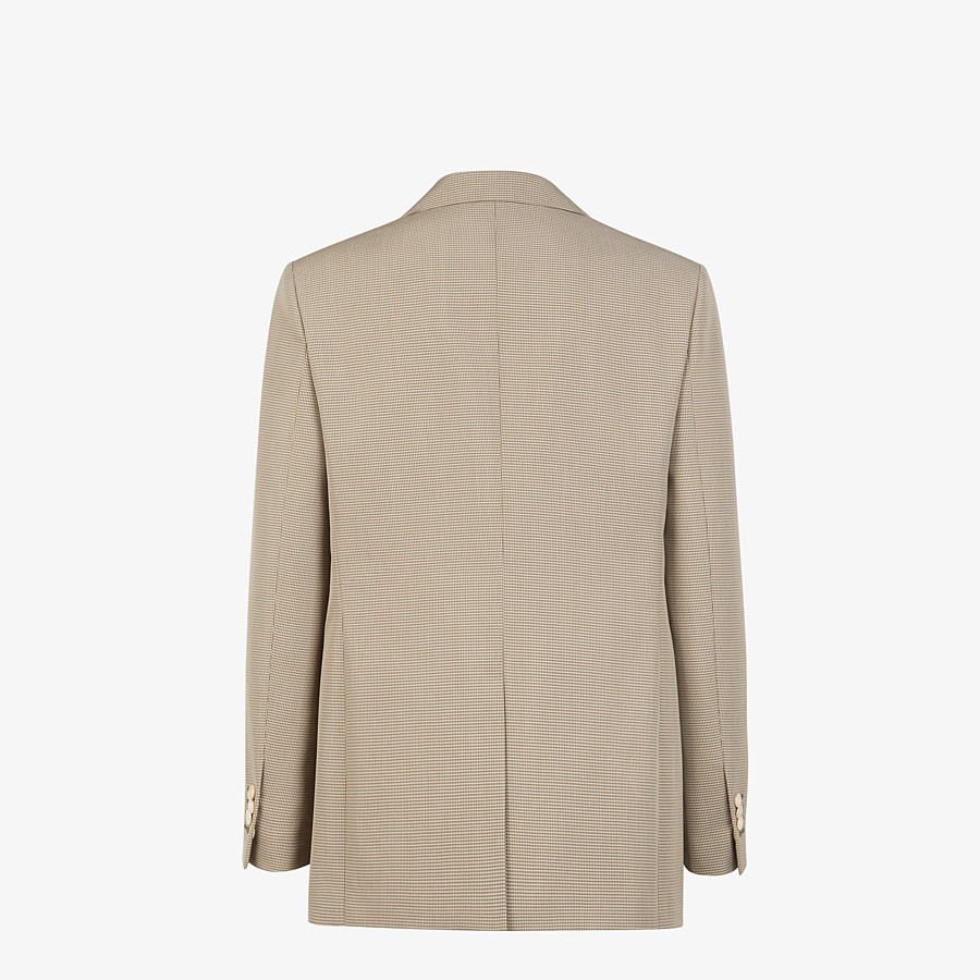 FENDI JACKET - Beige cotton blazer - view 2 detail