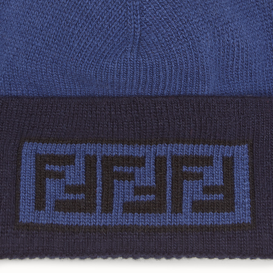 FENDI HAT - Blue wool and cashmere hat - view 2 detail