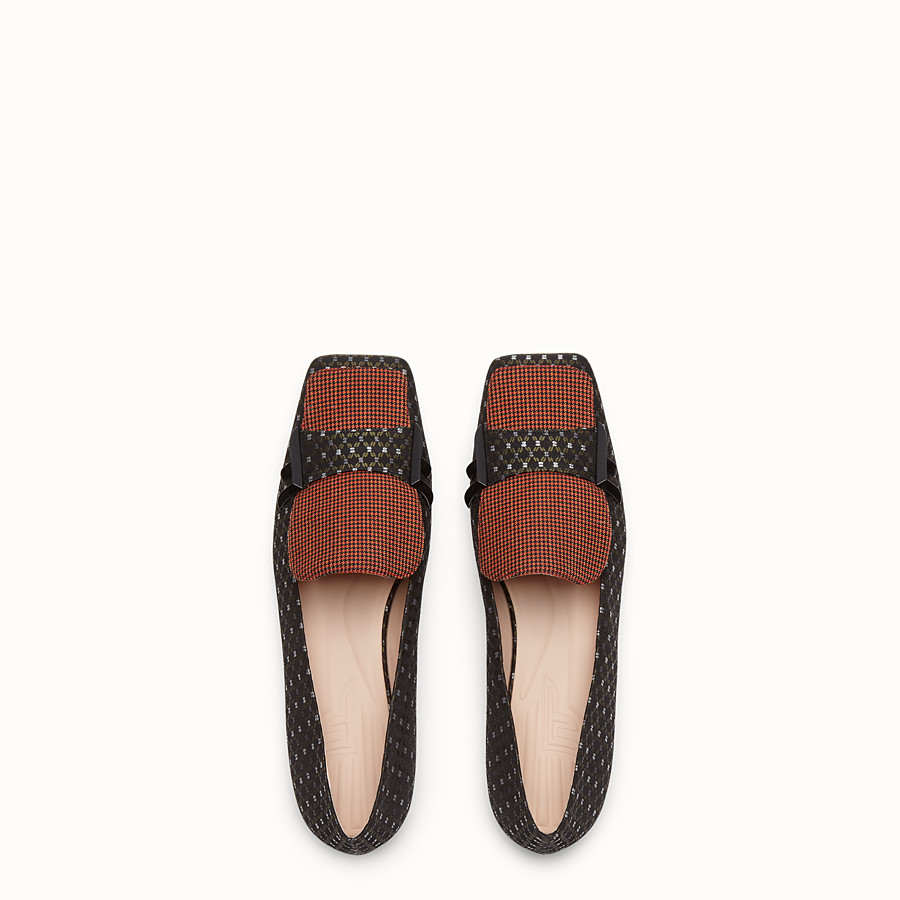 FENDI LOAFERS - Black nubuck flat loafers - view 4 detail