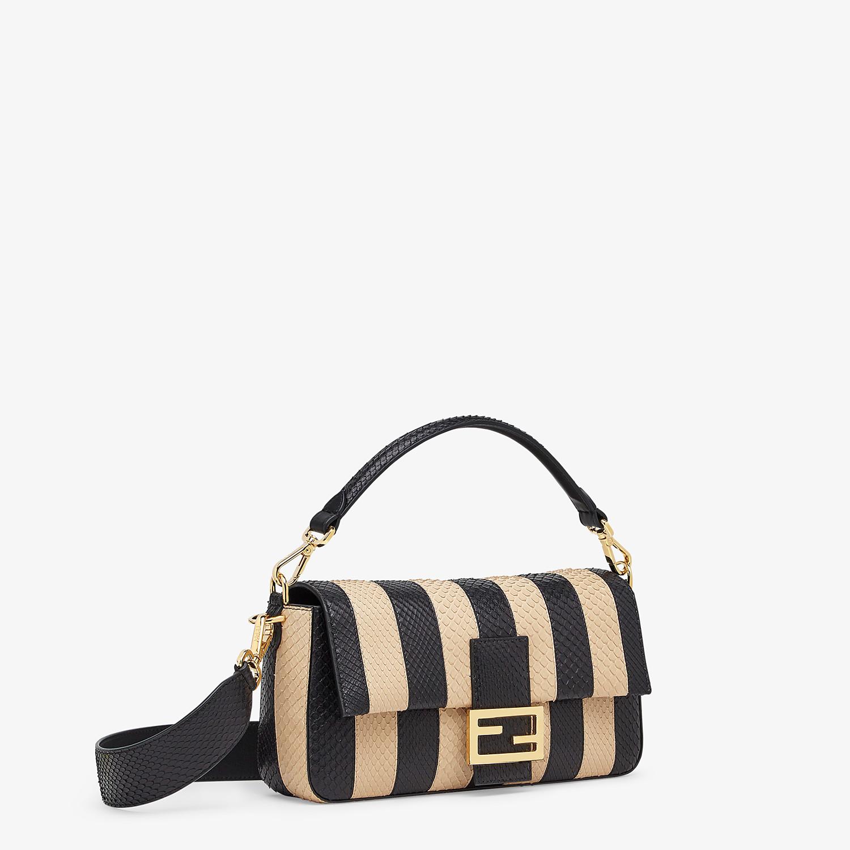 FENDI BAGUETTE - Black python leather bag - view 2 detail
