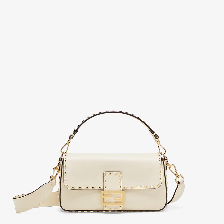 FENDI BAGUETTE - Tasche aus Leder in Weiß - view 1 detail