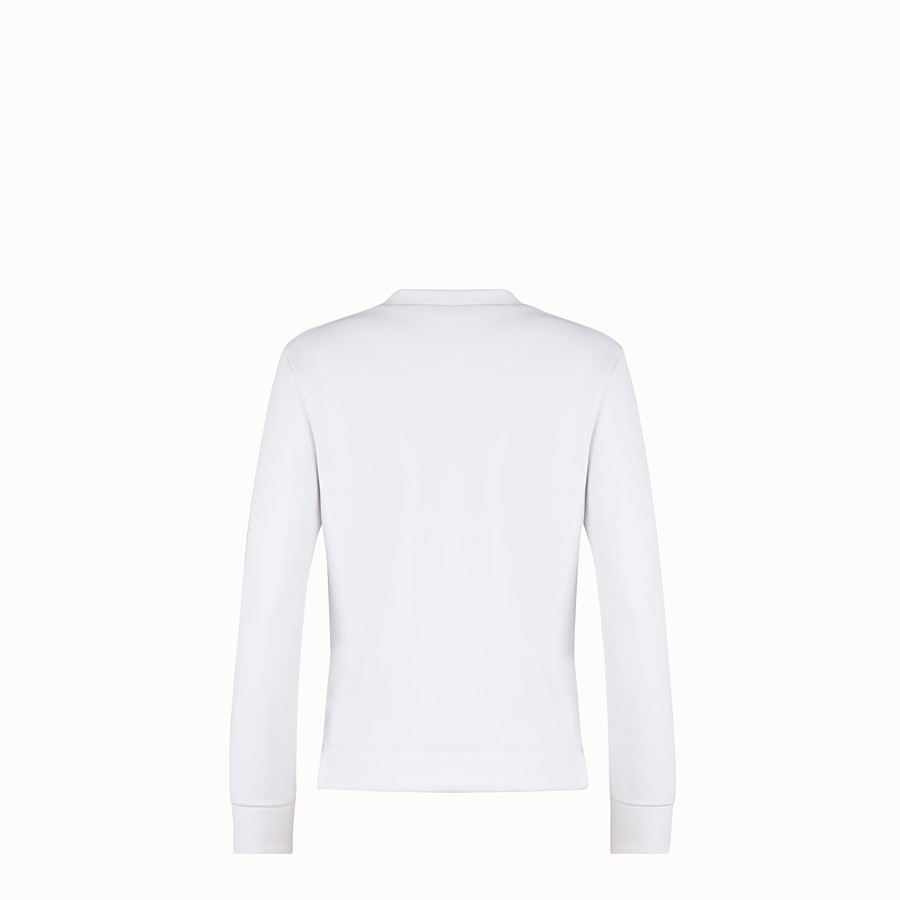 FENDI SWEATSHIRT - White cotton sweatshirt - view 2 detail