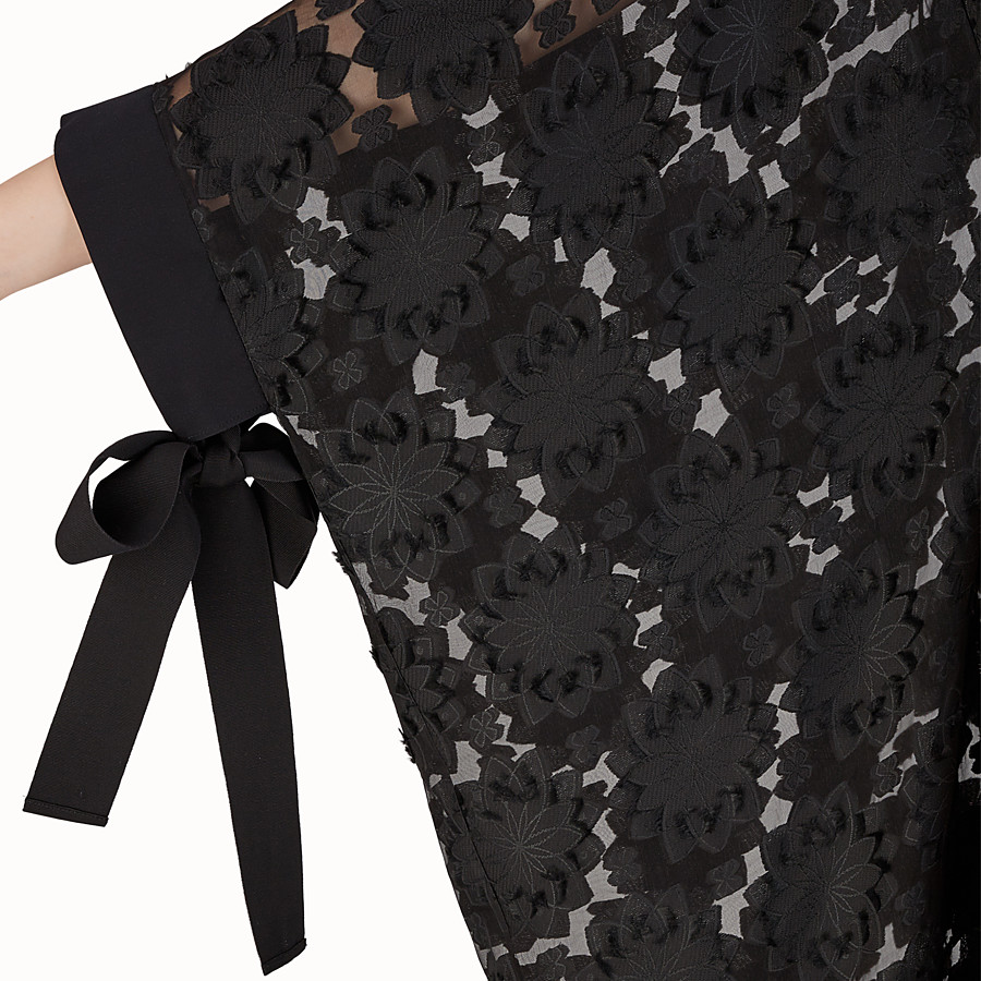 FENDI LONG DRESS - Black silk dress - view 3 detail