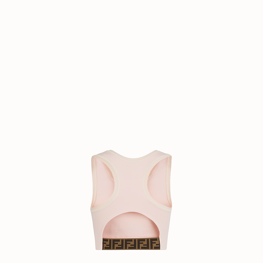 FENDI SPORTS TOP - Pink fabric fitness knit - view 2 detail