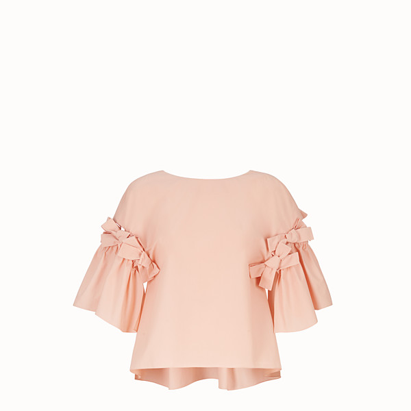 FENDI BLOUSE - Pink cotton blouse - view 1 small thumbnail