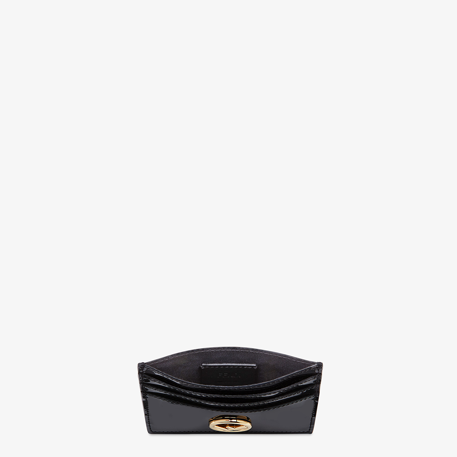 FENDI CARD HOLDER - Flat card holder in black patent leather - view 3 detail