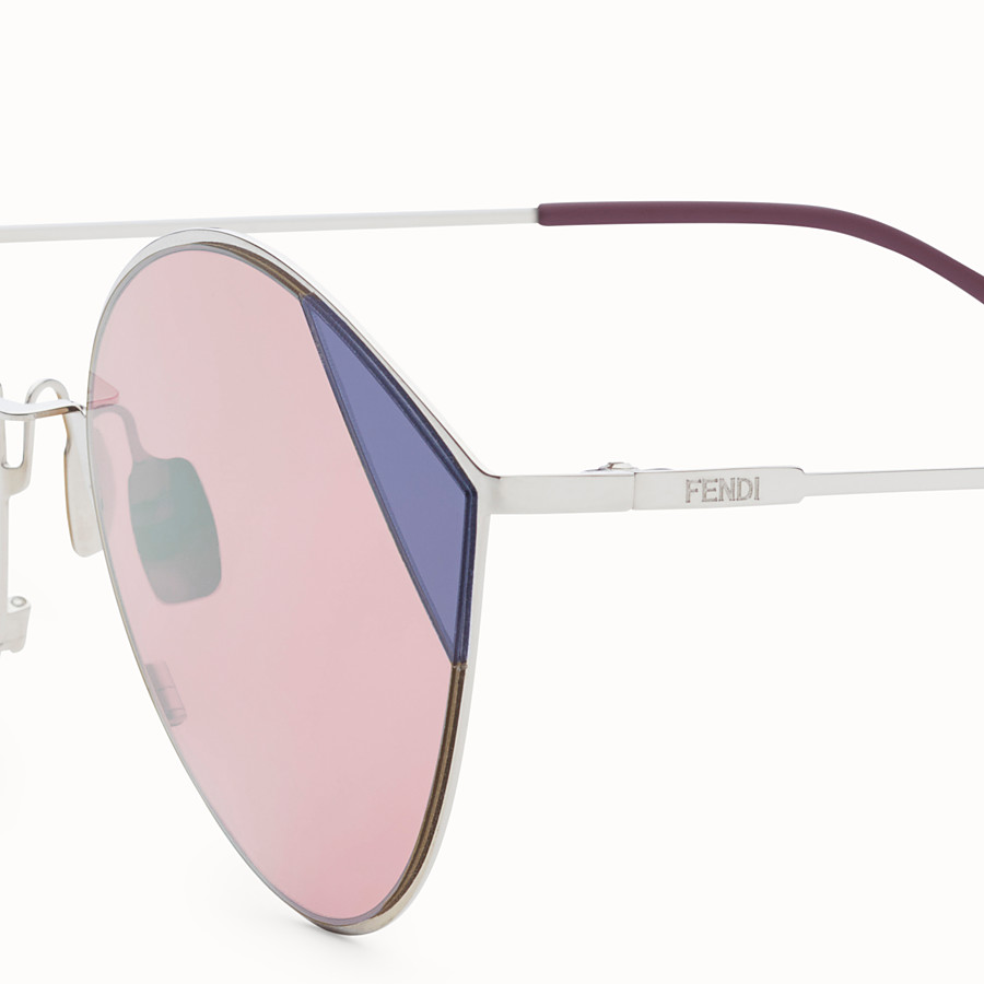 FENDI CUT-EYE - Silver-coloured sunglasses - view 3 detail