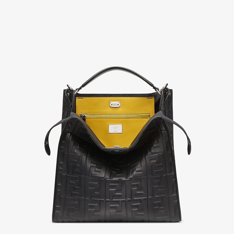FENDI PEEKABOO X-LITE FIT - Black nappa leather bag - view 1 detail