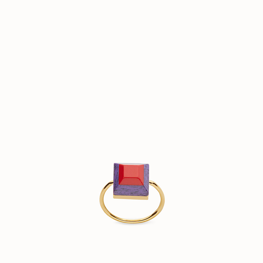 FENDI RAINBOW RING - Ring in metal and two-tone stone - view 1 detail