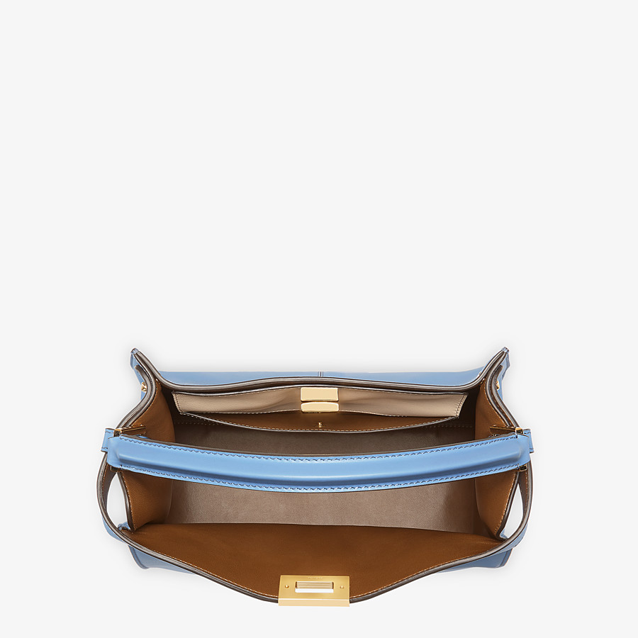 FENDI PEEKABOO X-LITE MEDIUM - Pale blue leather bag - view 6 detail