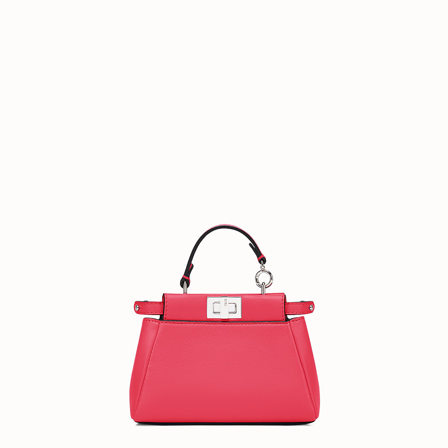 FENDI MICRO PEEKABOO - micro bag in fuchsia leather - view 1 detail