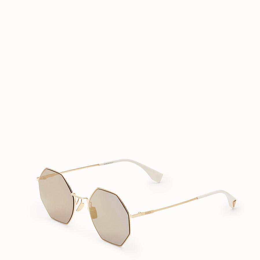 FENDI EYELINE - Gold-colour sunglasses - view 2 detail