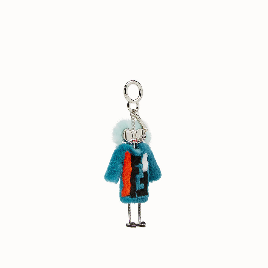 FENDI TEEN WITCHES CHARM - Turquoise rabbit fur charm - view 1 detail