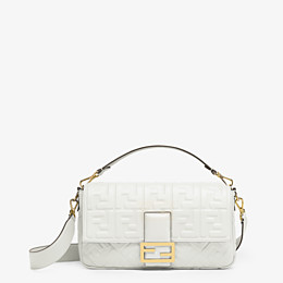 FENDI BAGUETTE LARGE - White leather bag - view 1 thumbnail