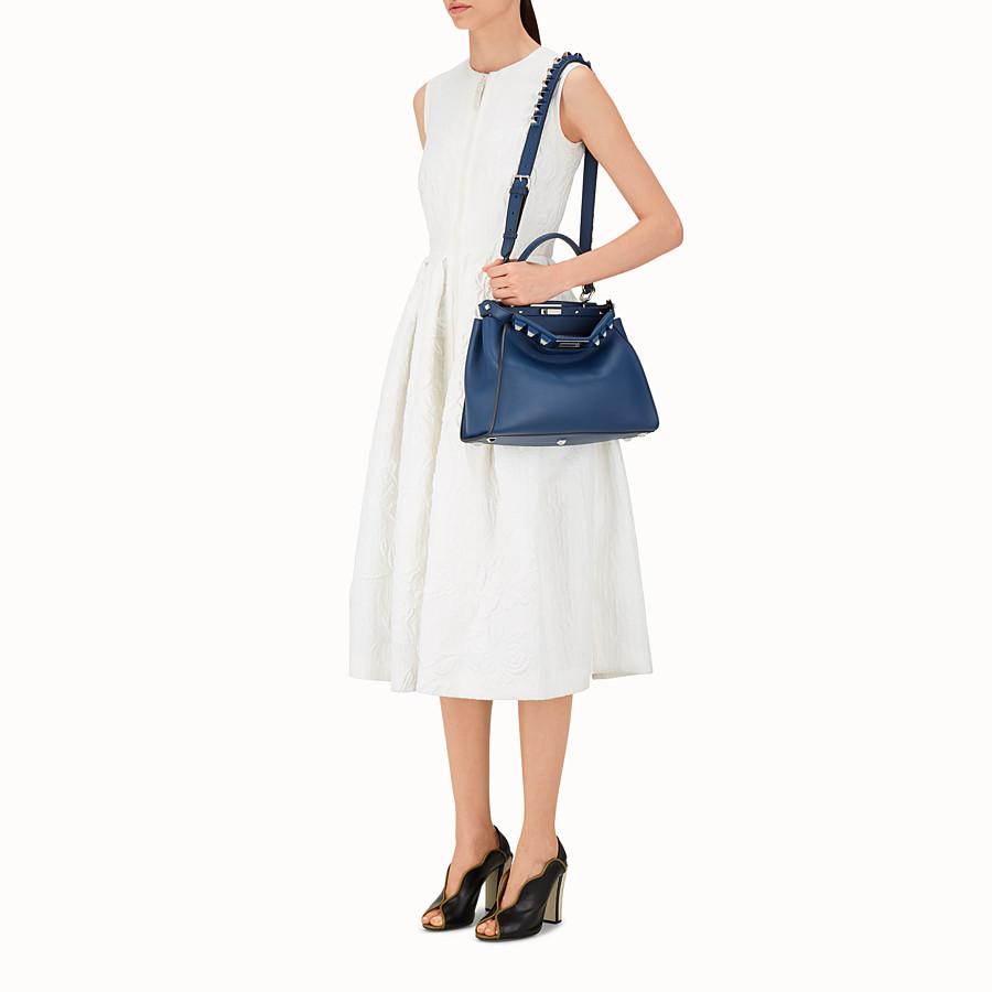 FENDI PEEKABOO REGULAR - Bag in midnight blue leather - view 5 detail
