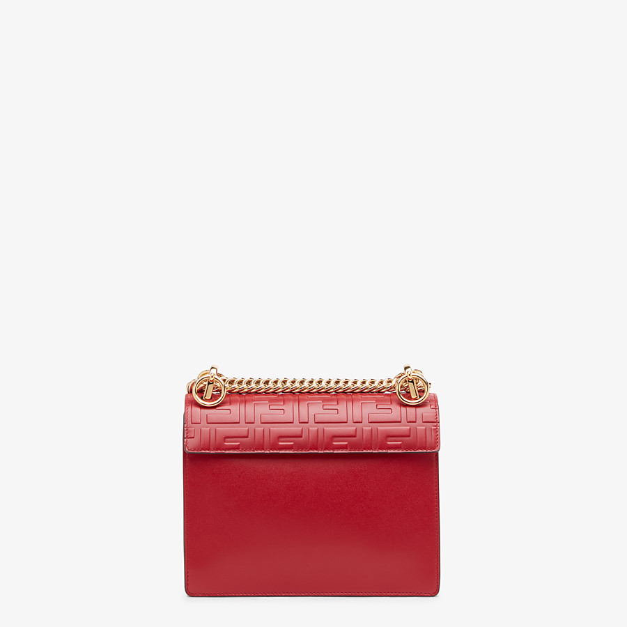 FENDI KAN I SMALL - Red leather mini bag - view 4 detail