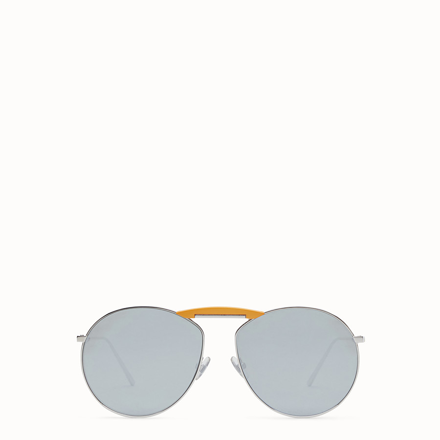 FENDI SUNGLASSES - Palladium-coloured sunglasses - view 1 detail