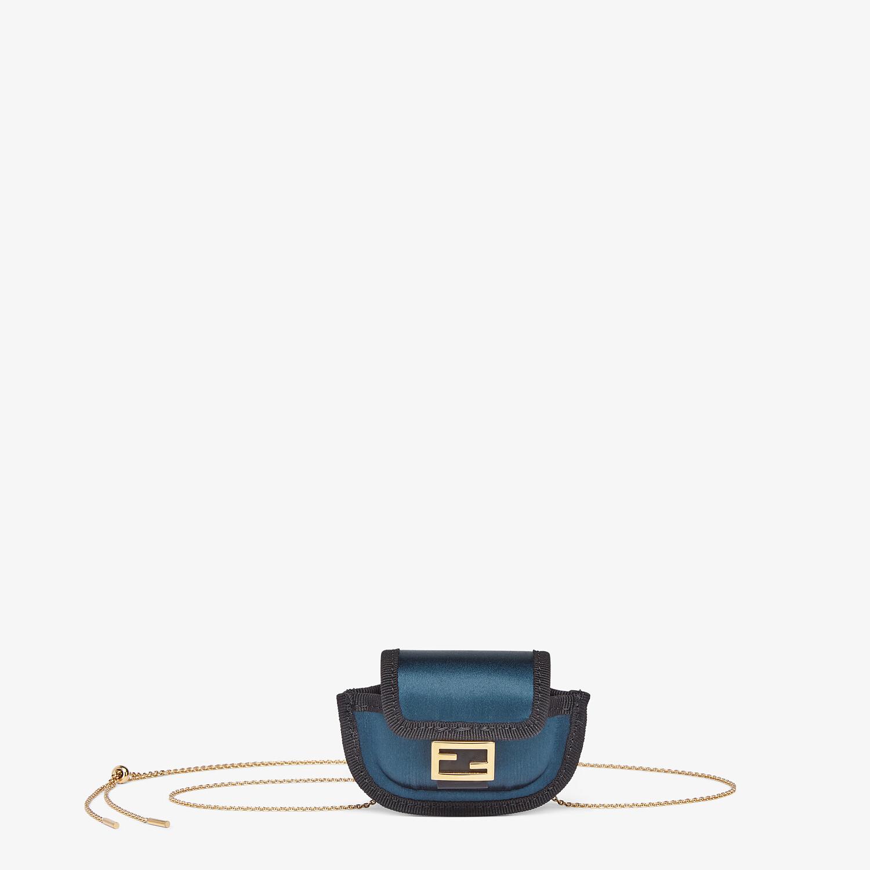 FENDI PICO BAGUETTE CHARM - Blue satin charm - view 1 detail