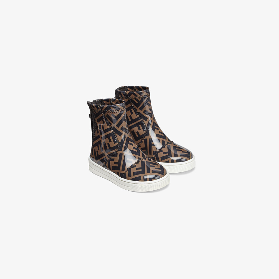 FENDI JUNIOR ANKLE BOOTS - Patent leather first-steps ankle boots - view 2 detail