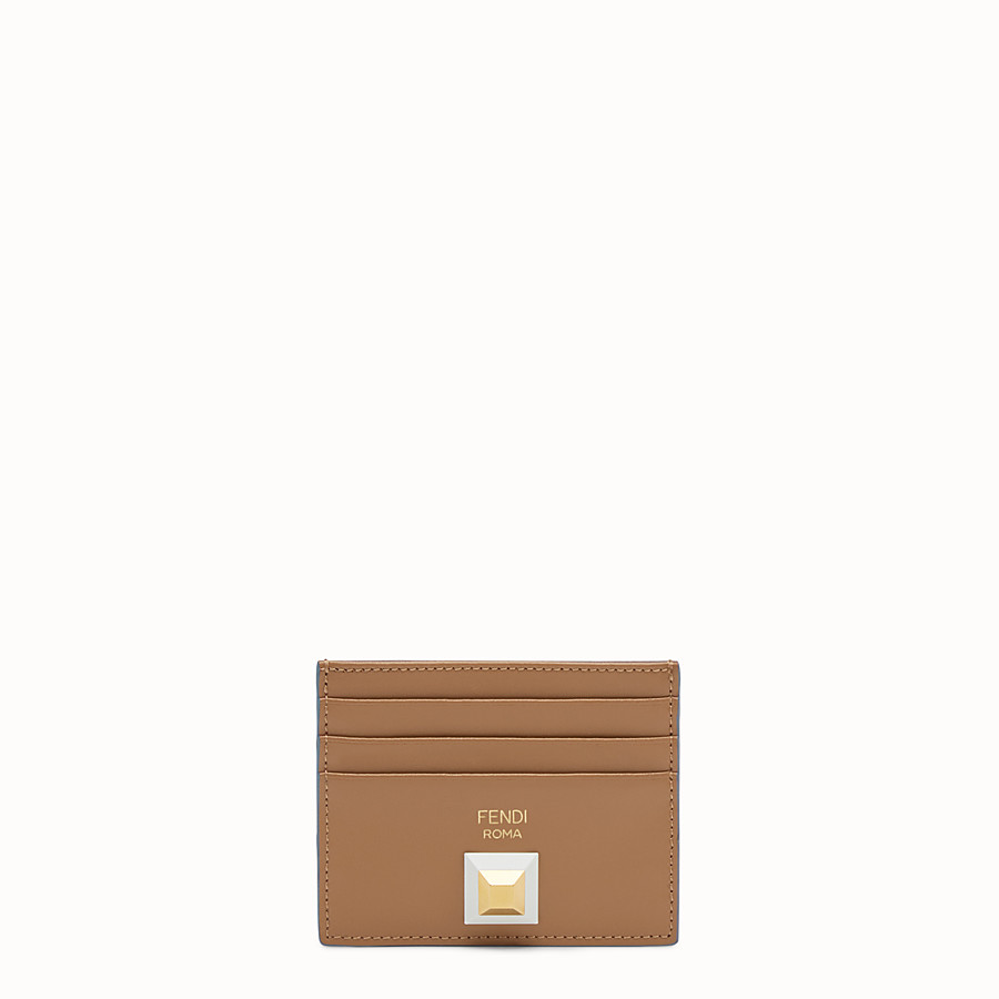 FENDI CARD HOLDER - Two-tone leather card holder with six slots - view 1 detail